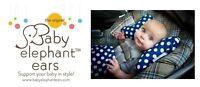 Customer Returns BABY ELEPHANT EARS Infant Head Support Pillow ~ Choose Pattern