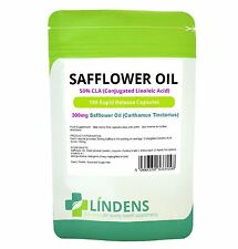 Lindens Safflower Oil 50% CLA 300mg 100 Capsules Conjugated Linolenic Acid