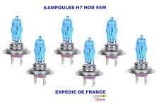 6 AMPOULES XENON HOD H7 55W +30% SUPERWHITE NEUF