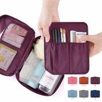Cosmetic Make Up Hand Bag Case Storage Pocket Organizer Toiletry Travel Zip #UK