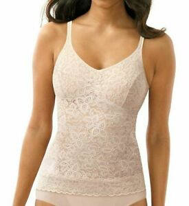 Bali 8L12 Lace N Smooth Cami Rosewood Beige