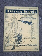 Vintage Divers Supply Catalog Diving Helmet SCUBA