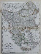 Europe; Greece, Macedonia, Albania - Civelli - 1860