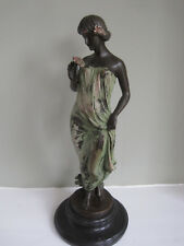 Art Deco Cold Painted Bronze Figure Signed Pittaluga ##