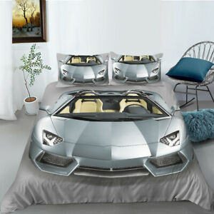 Quilt Duvet Doona Cover + Pillowcase Bedding Set - Lamborghini Sports Car