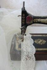 Exclusive Eng Nottingham Cotton Cluny Lace Vintage style - Ecru FC247,Bridal
