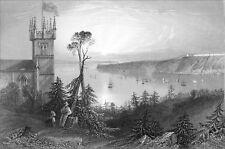 CANADA (QUÉBEC) - UNE ÉGLISE à POINT-LEVIS - Gravure du 19eme siècle