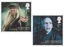 UK Harry Potter Heroes & Villains Dumbledore Voldemort (2 stamps) MNH 2011