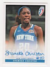 2007 WNBA Authentic Original Autograph Shameka Christon New York Liberty
