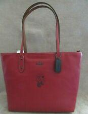COACH DISNEY 38621 Minnie Mouse Rollerskate City Leather Tote Handbag Purse NWT