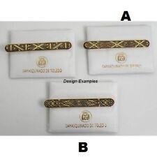 Damascene Gold Mens Tie Bar Geometric Design by Midas of Toledo Spain 2600Geo