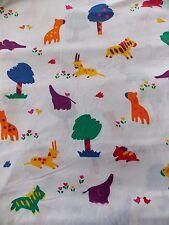 Estate Fabric Fun Zone Hoffman Animal Birds Zoo Kid Child Vintage Baby BTY Quilt