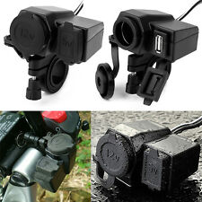 WATERPROOF MOTORCYCLE USB POWER CHARGER SOCKET 12V 2.1A FOR MOBILE PHONE GPS MP3