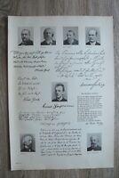Kunstdruck 1895-1910 Gerhart Hauptmann J Grosse W Hertz W v Polenz Raabe 41x28