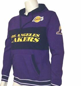 Mens Nba Basketball Hoodie Sweatshirt  Size Medium Purple Angeles Lakers Logo