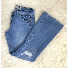PINK Victoria's Secret Women's Jeans Flare Ripped 8 Short Destroyed Distressed