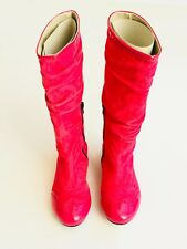 I Pinco Pallino Pink Suede Knee High Boots for Girls - Size 35 (EU) / 3.5 US