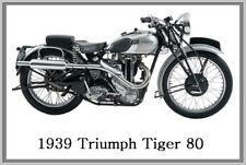 1939 TRIUMPH TIGER 80 - JUMBO FRIDGE MAGNET - VINTAGE CLASSIC MOTORCYCLE BIKE