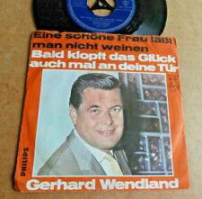 """DISQUE 45T DE GERHARD WENDLAND """" EINE SCHÖNE FRAU LÄBT MAN NICHT WEINEN """""""
