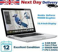Apple MacBook Pro 15.4-Inch Intel Core 2 Duo 2.53GHz 4GB RAM 500GB HDD A Grade