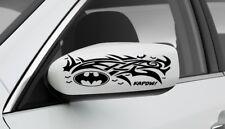 SET OF 2 SIDE MIRROR BATMAN TRIBAL GRAPHIC VINYL DECAL CAR TRUCK STICKER