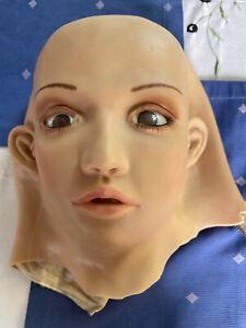 Silikon Maske Dummy Doll Face Fehlerhaft Puppengesicht Rubberdoll One Size