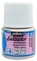 Pebeo Setacolor Fabric Textile Paint 45ml Pot - All SHIMMER & PEARL Colours