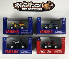 New Ray 1:32 Scale ATV Toy 4 Pack - Honda Yamaha