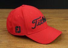 Titleist Golf Dobby Tech Lightweight Fitted Hat Cap Red Black XL/XXL NEW