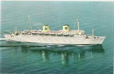 1962 Postcard Of Ms Kungsholm- Swedish American Line - Gothenburg To New York