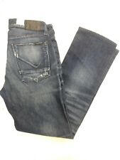 New Men's HUDSON Jeans *Byron Straight Leg Distressed *Dark Blue NSW Sz: 30x29
