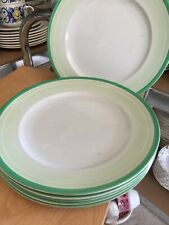 """Shelley Eve Shape """"Bands & Shades"""" Pattern 11959 Dinner Plate. X6"""