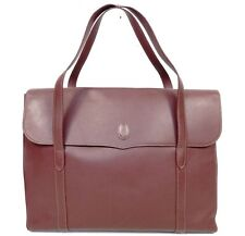Cartier Must Line Business Tote Shopper Shoulder Handbag Red Leather Tote Bag XL