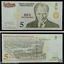 Turkey Paper Money 5 Lirasi 2005 UNC