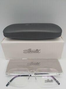 Luxury SILHOUETTE 5529 FF eyeglasses glasses frame - silver blue blk NEW + case