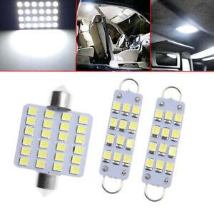 3Pcs For Chevrolet White LED Interior Map Dome Lights Bulbs Lamps 6000K 12V
