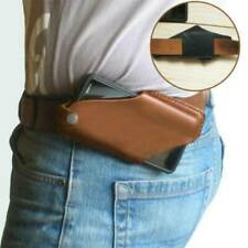 New Men Cell Phone Belt Leather Pack Bag Loop Waist Holster Pouch Case​ Genuine