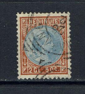 """NETHERLANDS INDIES 1892 #30 (x)fu """"WILHELMINA"""" A0175"""