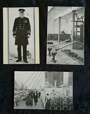 3 unusual White Star Line Titanic post cards