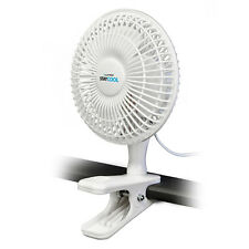 "Lloytron F1001 'STAY COOL' 6"" 15cm Large Clip Fan with 2 Speed Control White NEW"