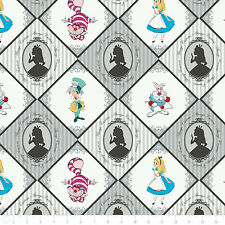 Disney Alice in Wonderland Always Curious Stone 100% cotton fabric by the yard