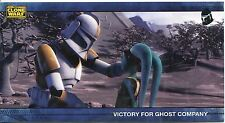 Star Wars Clone Wars Widevision Silver Stamped Parallel Base Card [500] #71