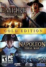 Empire: Total War & Napoleon: Total War - Gold Edition (PC, 2010) Windows
