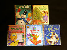 Five Little Golden books, Christmas stories LOT R, good to better conditions