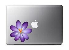 "Purple Spring Crocus Flower Full Color - Vinyl Decal for 13"" Macbook …"