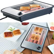 Toaster: Flachtoaster für bis zu 4 Brötchen, 3 Heizelemente, Timer, 600 Watt