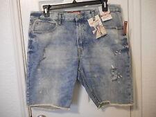 Men's Arizona Denim Flex Denim Shorts Light Bleach Size 38 NEW