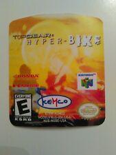 Top gear hyper bike N64 cartridge replacement label sticker precut Nintendo 64