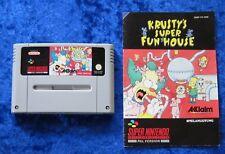 Krusty´s Super Fun House, Anleitung, SNES, Super Nintendo Spiel