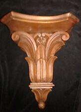 Decorative Corbel Shelf Victorian Antique Carved Walnut